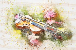 violin in art